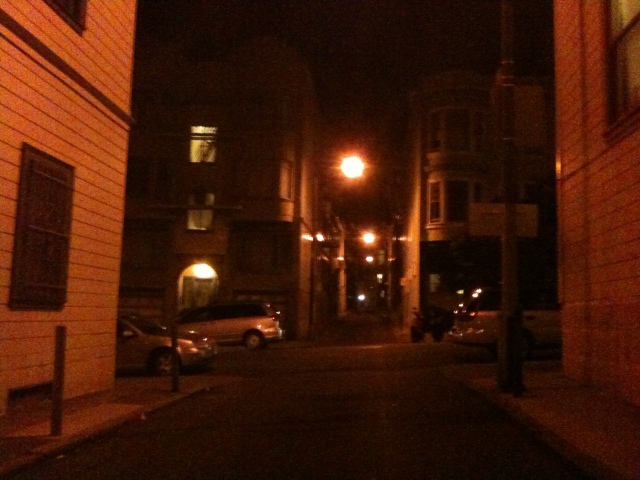 2009 - late night at Jasper Place, North Beach